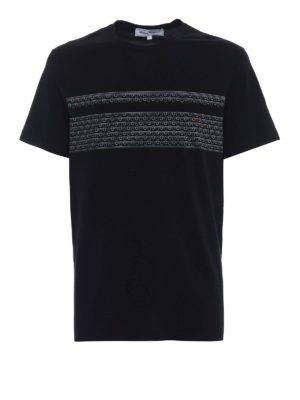Salvatore Ferragamo: t-shirts - Contrasting logo cotton black Tee