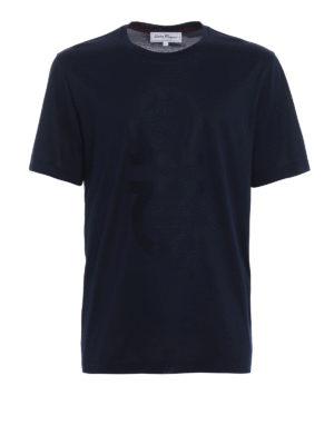 Salvatore Ferragamo: t-shirts - Extra fine cotton blue T-shirt