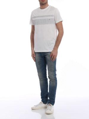 Salvatore Ferragamo: t-shirts online - Contrasting logo cotton Tee