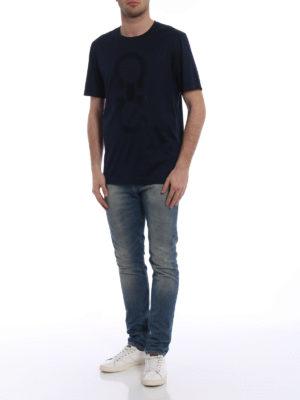 Salvatore Ferragamo: t-shirts online - Extra fine cotton blue T-shirt