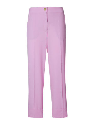 SALVATORE FERRAGAMO: Pantaloni sartoriali - Pantaloni rosa in lana