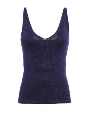 Salvatore Ferragamo: Tops & Tank tops - Knitted tank top