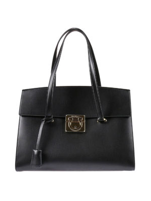 Salvatore Ferragamo: totes bags - Gancio detail leather tote
