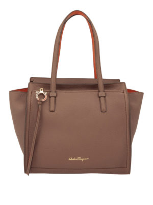 Salvatore Ferragamo: totes bags - Hammered leather medium tote