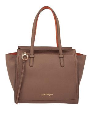 Salvatore Ferragamo: totes bags - Hammered leather medium tote