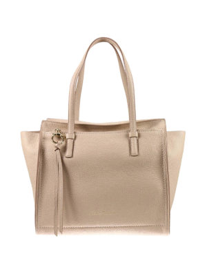 Salvatore Ferragamo: totes bags - Hammered leather tote