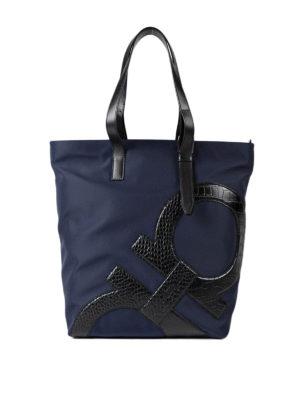 Salvatore Ferragamo: totes bags - Leather Gancio detailed tote
