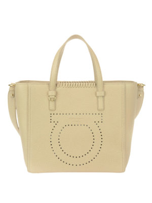 Salvatore Ferragamo: totes bags - Marta leather tote