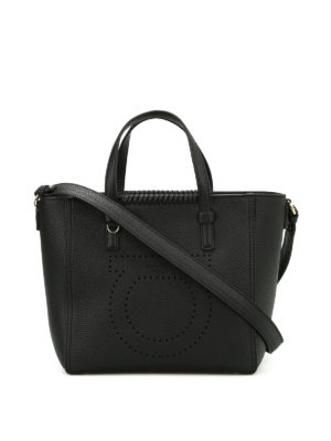 Salvatore Ferragamo: totes bags - Marta perforated logo small tote