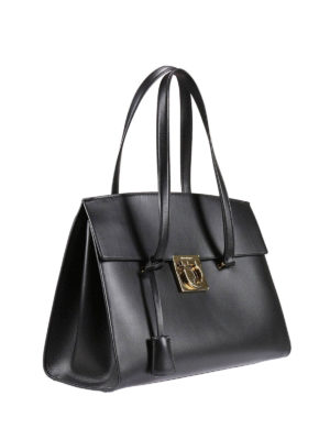 Salvatore Ferragamo: totes bags online - Gancio detail leather tote