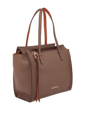 Salvatore Ferragamo: totes bags online - Hammered leather medium tote