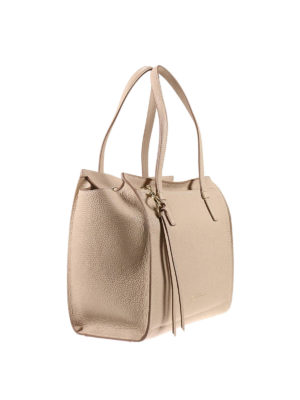 Salvatore Ferragamo: totes bags online - Hammered leather tote