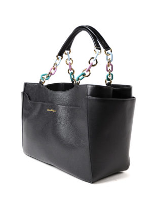 Salvatore Ferragamo: totes bags online - Lianne colourful chain handle tote