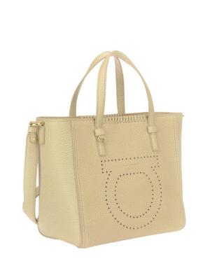 Salvatore Ferragamo: totes bags online - Marta leather tote