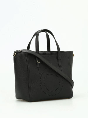 Salvatore Ferragamo: totes bags online - Marta perforated logo small tote