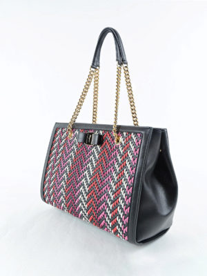 Salvatore Ferragamo: totes bags online - Melike chevron detailed tote