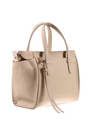 Salvatore Ferragamo: totes bags online - Small hammered leather tote