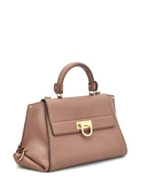 Salvatore Ferragamo: totes bags online - Sofia hammered leather tote