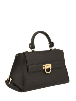 Salvatore Ferragamo: totes bags online - Sofia hammered leather tote