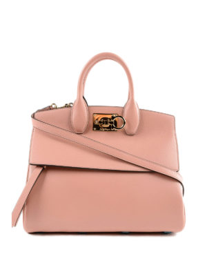 SALVATORE FERRAGAMO: shopper - Borsa Rhapsody Bag in pelle con chiusura logo