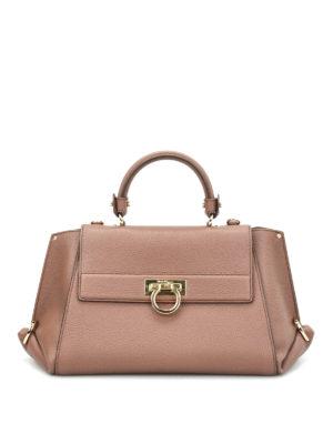 Salvatore Ferragamo: totes bags - Sofia hammered leather tote