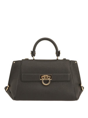 Salvatore Ferragamo: totes bags - Sofia hammered leather tote