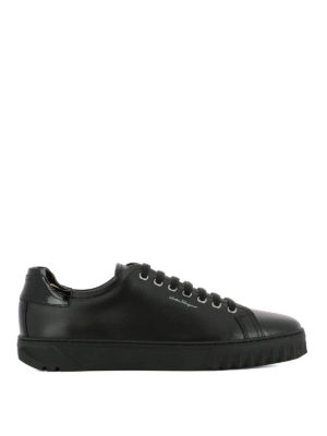 Salvatore Ferragamo: trainers - Cube leather sneakers