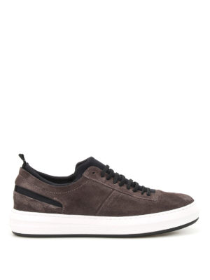 Salvatore Ferragamo: trainers - Desert suede and neoprene sneakers