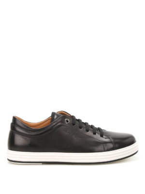 Salvatore Ferragamo: trainers - Newport brushed leather sneakers
