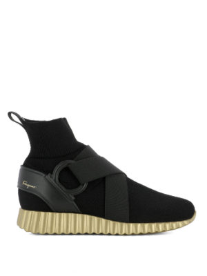 Salvatore Ferragamo: trainers - Noto2 knitted high top sneakers
