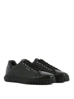 Salvatore Ferragamo: trainers online - Cube leather sneakers