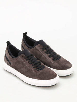 Salvatore Ferragamo: trainers online - Desert suede and neoprene sneakers