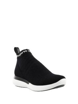 Salvatore Ferragamo: trainers online - Knitted sock sneakers