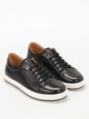 Salvatore Ferragamo: trainers online - Newport brushed leather sneakers