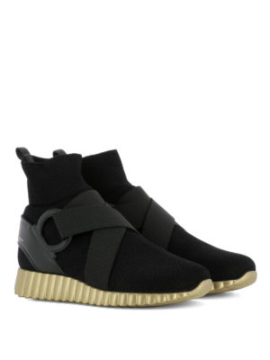 Salvatore Ferragamo: trainers online - Noto2 knitted high top sneakers