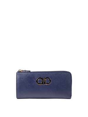 Salvatore Ferragamo: wallets & purses - Double Gancio saffiano wallet