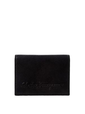 Salvatore Ferragamo: wallets & purses - Embossed logo leather wallet
