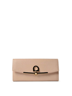 Salvatore Ferragamo: wallets & purses - Gancini clip leather wallet