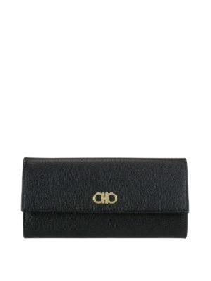 Salvatore Ferragamo: wallets & purses - Gancini continental leather wallet