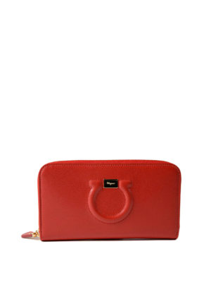Salvatore Ferragamo: wallets & purses - Gancini leather continental wallet