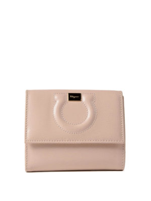 Salvatore Ferragamo: wallets & purses - Gancini leather french wallet