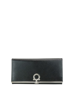 Salvatore Ferragamo: wallets & purses - Gancio clasp continental wallet