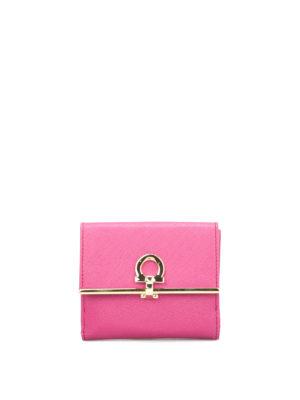 Salvatore Ferragamo: wallets & purses - Gancio detail saffiano wallet