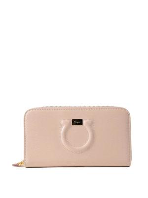 Salvatore Ferragamo: wallets & purses - Leather Gancini continental wallet