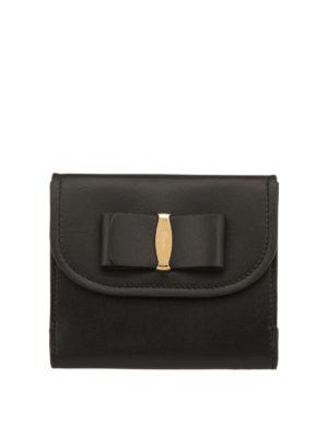 Salvatore Ferragamo: wallets & purses - Leather Vara small wallet