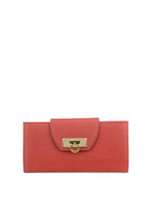Salvatore Ferragamo: wallets & purses - Leather wallet with flap closure
