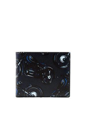 Salvatore Ferragamo: wallets & purses - Motorcycle print leather wallet