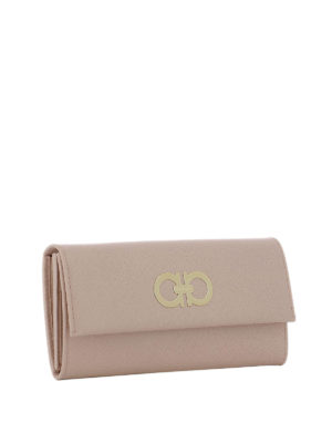 Salvatore Ferragamo: wallets & purses online - Bonbon pink saffiano leather wallet