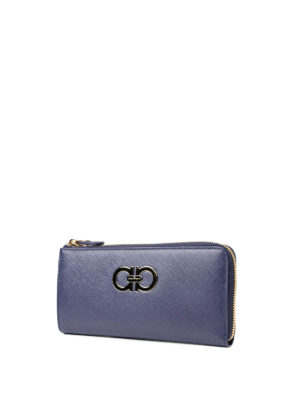 Salvatore Ferragamo: wallets & purses online - Double Gancio saffiano wallet