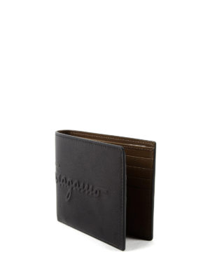 Salvatore Ferragamo: wallets & purses online - Embossed logo leather wallet